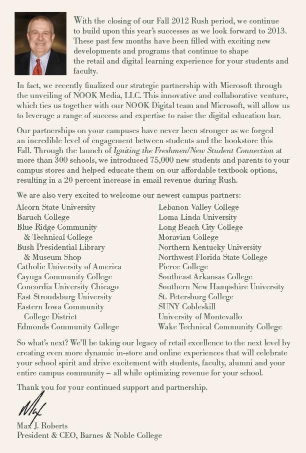 Presidents Letter
