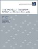 The American Freshman: National Norms Fall 2012