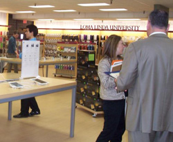 View of the new Tech Store within the The Campus Store at Loma Linda University.