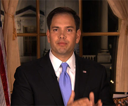 Marco Rubio gives the GOP response to President Obama's State of the Union address.