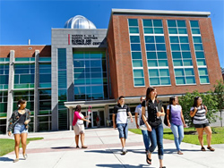 The new  139,600-square foot Hoeffner Science and Technology Center on the campus of East Stroudsburg University.