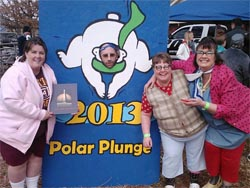 Memorial Union Bookstore staff Shanda, Mike McRell, Gwen & Leslie Green before they take the plunge.