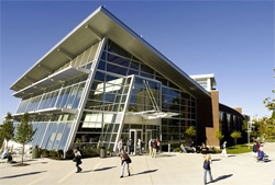 The Student Union building, which houses the bookstore on the campus of The University of Akron. Bookstore