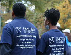 T-shirts created for Emory University's Student Health & Counciling Services jusing Promoversity.
