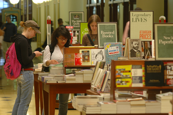 Students Browsing in Bookstore