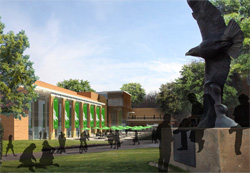 Architectural rendering of the new University Union and future home of the University of North Texas Bookstore.