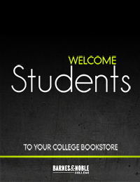 An example of the New Student Folder provided to incoming students through Barnes & Noble College bookstores, 'Igniting the Freshmen Connection' program.