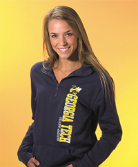 Hoodie sweatshirt manufactured by UTrau and made in the USA.