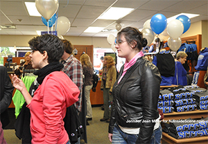 Visitors attend the grand opening  of the Sussex County Community College Bookstore.
