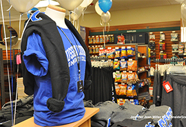 Interior of the Sussex County Community College Bookstore.