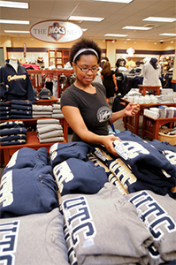 A student shops at the UTC Bookstore in Chattanooga, Tennessee.
