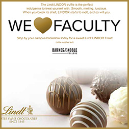 'We Heart Faculty'  email promotion sent to faculty members of Barnes & Noble College bookstores.