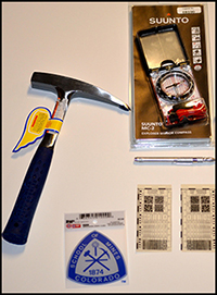 Examples of some of the unique merchandise sold in the Colorado School of Mines Bookstore.