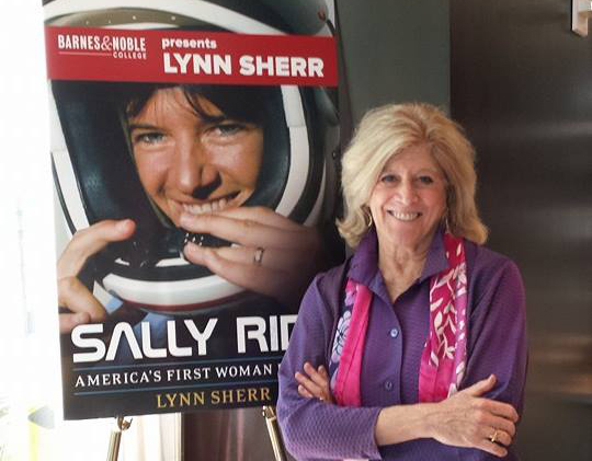 Award-winning journalist and author Lynn Sherr poses at the NACUBO 2014 Annual Meeting book signing.