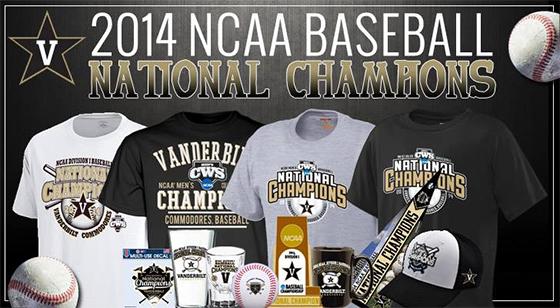 Vanderbilt U Baseball merchandise