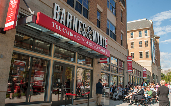 Representatives from CUA and Barnes & Noble College officially opened the new bookstore on July 28, 2014.