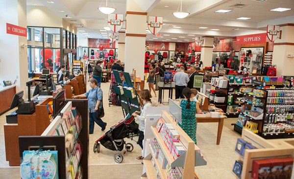 Shoppers browse in the new Barnes & Noble at The Catholic University of America bookstore.