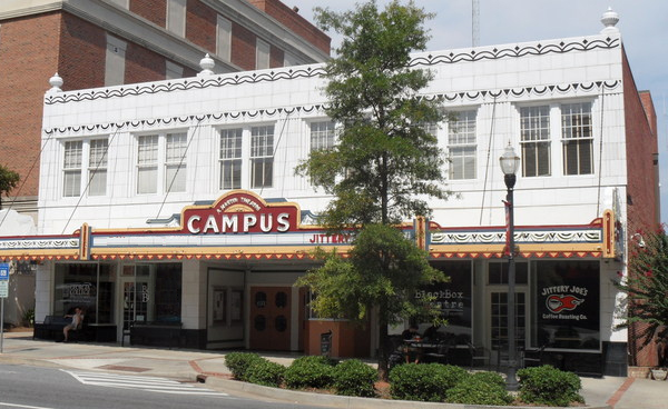 The Campus Theatre in downtown Milledgeville, houses the school's theater department, a black box theater, convenience store and bookstore.
