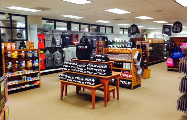 A view of the interior of the Polk State College at Lakeland Bookstore.