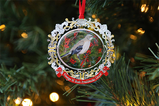 The official 2014 George W. Bush Presidential Center holiday ornament.
