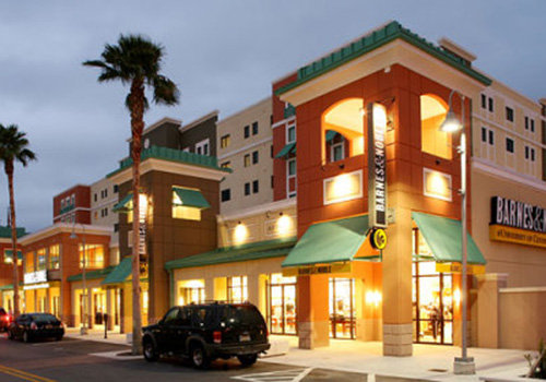 The Barnes & Noble at University of Central Florida bookstore in Orlando, Florida. The bookstore was built to blend with the local architecture.