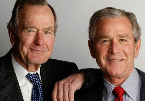 "President George Herbert Walker Bush, left, with his son George W. Bush, author of the book ""41: A Portrait of My Father."" (Photo: Eric Draper, George W. Bush Presidential Library and Museum)"