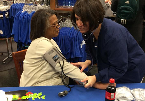 The Saint Louis University Bookstore partnered with the University's Health Department and gave free blood pressure check-ups during the De-Stress Fest.