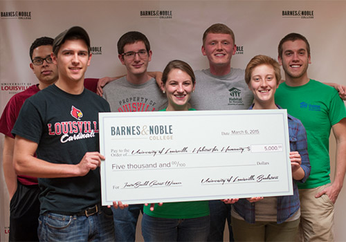 Students from the University of Louisville Habitat for Humanity campus chapter won $5,000 as one of the grand prize winners of the #BNCInstaBuild Video Challenge.