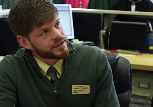 Brockport's College Bookstore Manager, Chris Sackett.