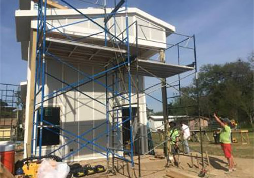 The Habitat for Humanity work site in Lafayette, Louisiana.