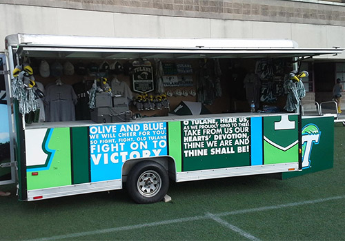 Tulane Green Wave Sports Shop Trailer