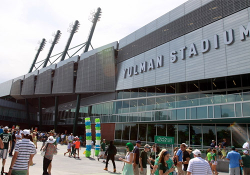 Tulane University's Yulman Stadium