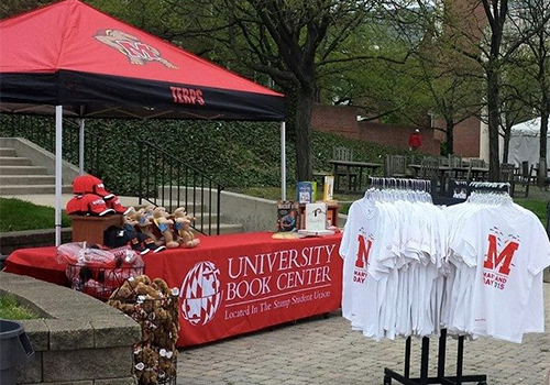 The University Book Center, participated in Maryland Day, offering, among other items, the very popular Maryland Day t-shirt.