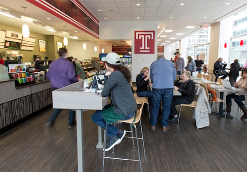 The new Barnes & Noble cafe in the Temple University Center City Bookstore will not only serve busy students and faculty, but also the local community.