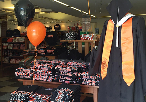 The University of the Pacific, located in Stockton, CA, held it's Grad Fair at the campus bookstore.