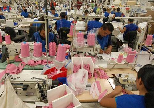 A Hanes Brand, Inc. factory in El Salvador.