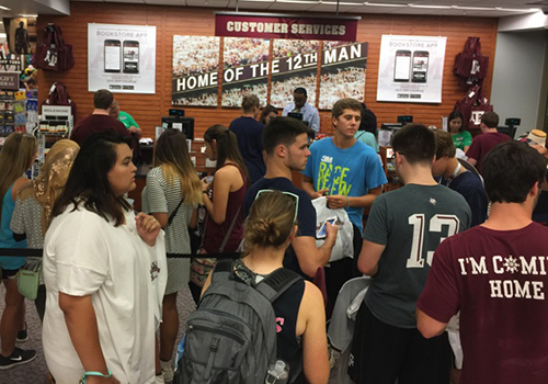 Texas A&M students packed the bookstore for their VIP Night.