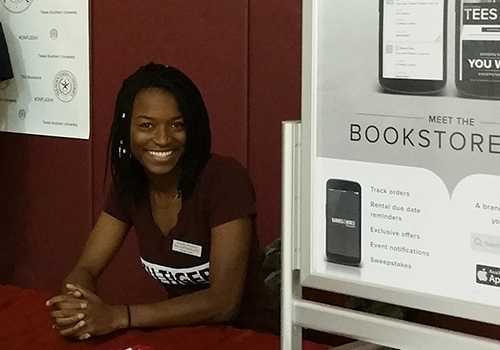 Texas Southern University senior Roneka Woodard is majoring in Radio Television and Film (RTF), and minoring in Entertainment Recording Management. Woodard is also part of the Bestseller Program at the campus bookstore.
