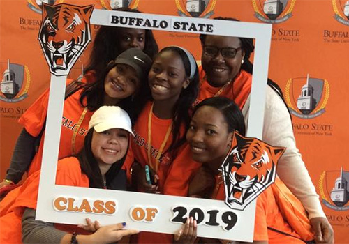 Buffalo State College (SUNY), held their Bengal Tiger spirit at their VIP event.
