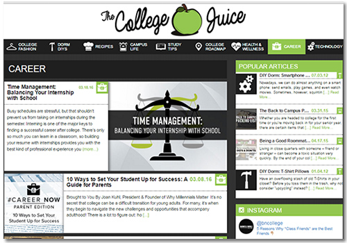 The College Juice careers