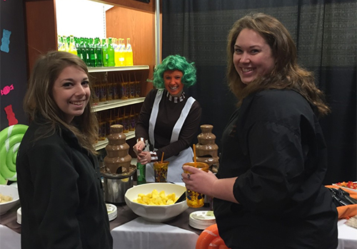 The SUNY Cobleskill Bookstore, located in Cobleskill, NY, held a Willy Wonka themed Grad Fair for graduating seniors.