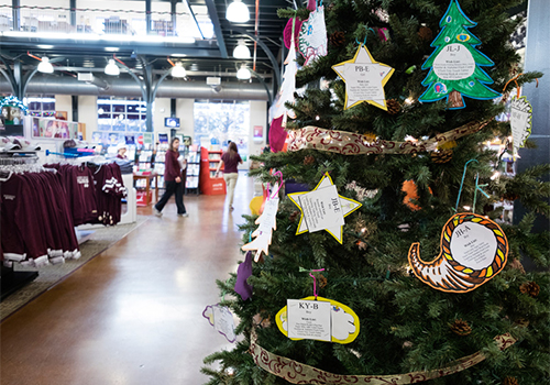Mississippi State Bookstore Giving Tree
