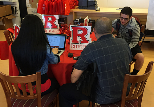 Rutgers University's 'Get Knighted' Open House celebrates students' admission with a program designed to encourage student enrollment.