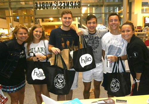 Students at the Tulane University Bookstore, located in New Orleans, Louisiana, enjoyed and event filled with manicures, samplings, game, and refreshments