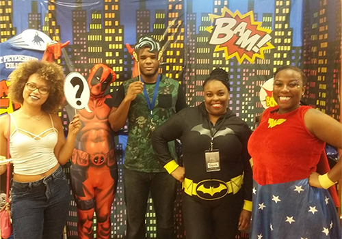 Students at the St. Petersburg College Bookstore in St. Petersburg, Florida, enjoyed a Superhero themed VIP event.