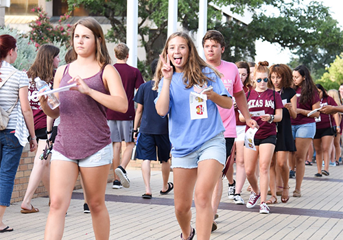 Texas A&M University, located in College Station, Texas, held its VIP Night to introduce new students to the bookstore.