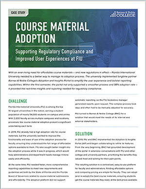 FIU course material case study